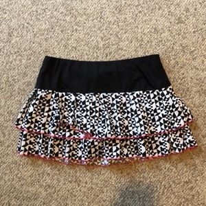 Lucky in Love black & white layered tennis skirt M